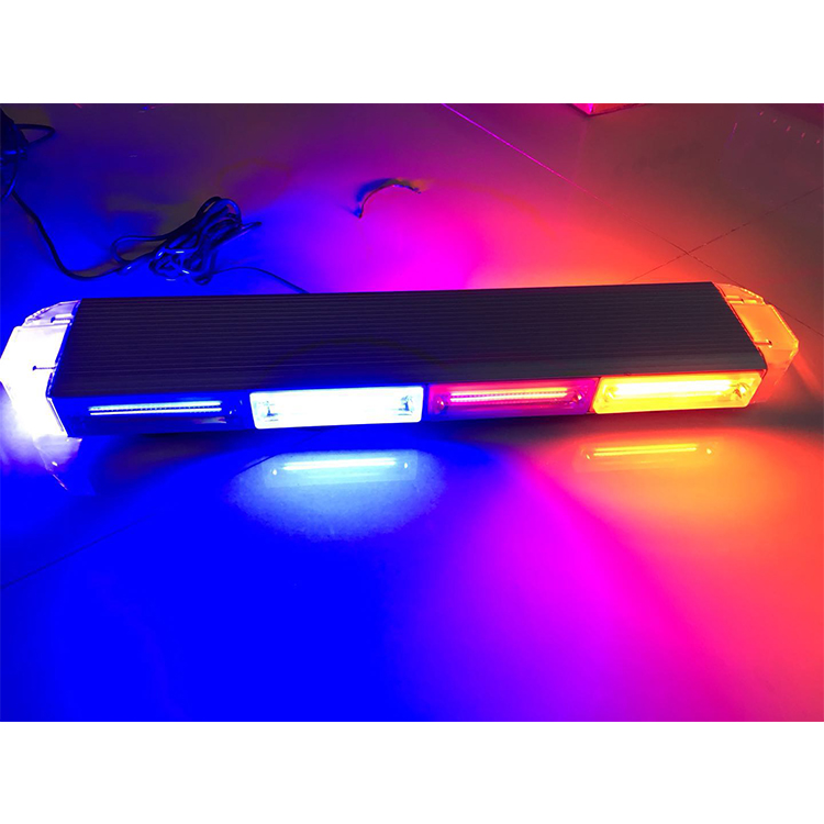 23 Inch Emergency Red Blue 100W COB Security Warning Rooftop Strobe Light Bar