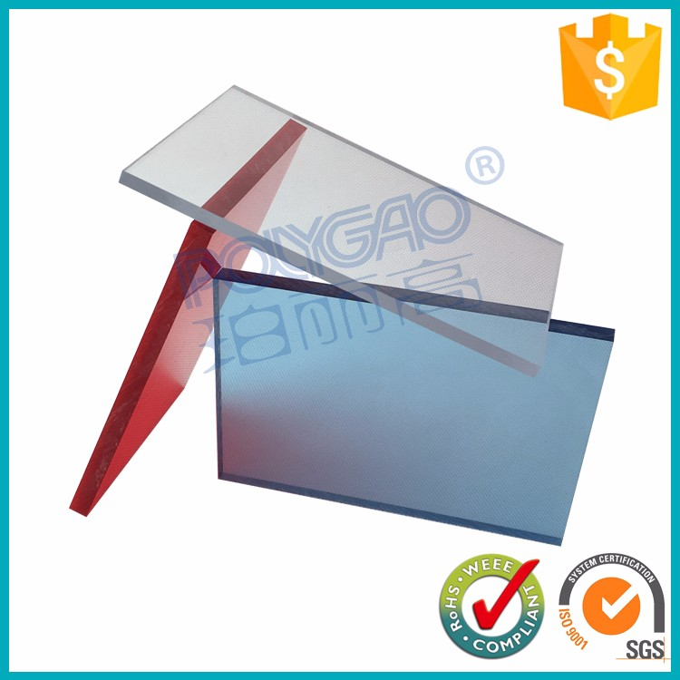 Impact resistant plastic sheet PC polycarbonate bullet proof