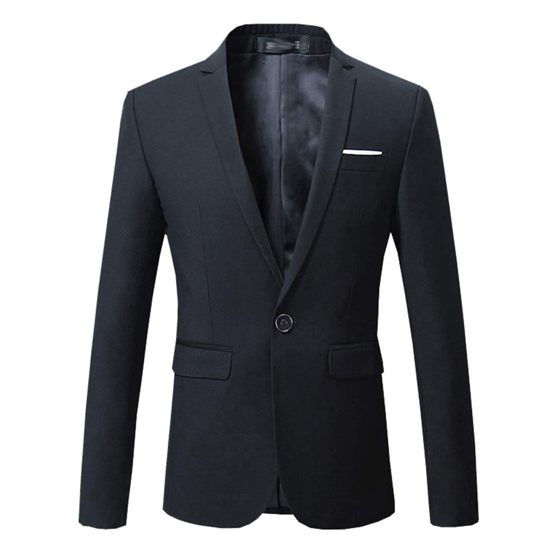 cf23382d90 Get Quotations · Janice Davis Men Slim Fit Casual Business Blazer Suit Plus  Size Wedding Formal Suit Blazer