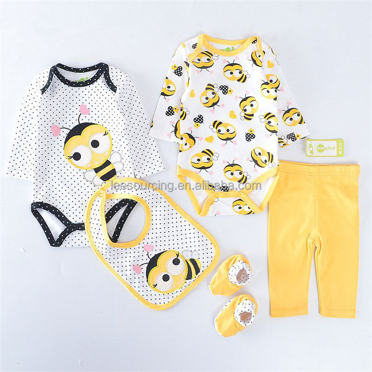 New Arrival 5PCS Kids Girl Clothes Wear Baby Girls Spring Casual Clothing Set