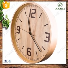China manufacturers handmade natural bamboo wall clock wooden smart clock
