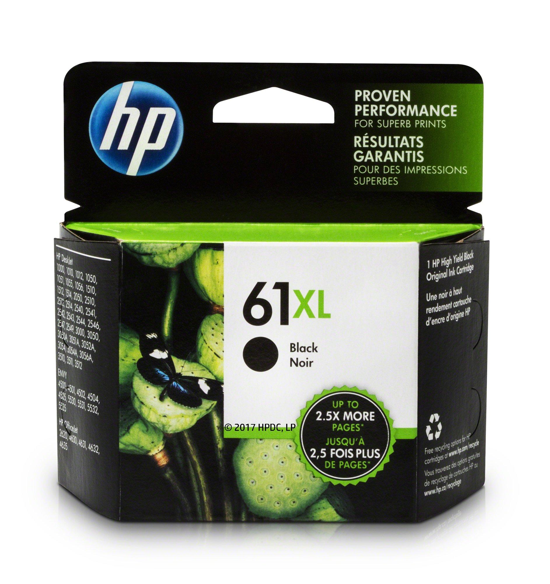 2X Black 2X Color Ink Compatible for HP 61 XL 61XL DeskJet 2510 2512 2514 2540