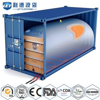 container Flexitank for bulk liquid transportation
