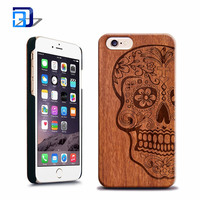 Factory price mobile accessories laser engraving custom design plastic wooden cell phone wood case for iphone 6 6s 6s plus 5se