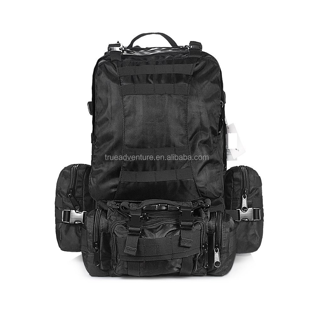 black military camo hiking backpack