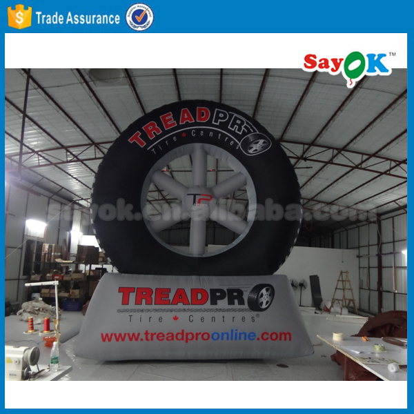 Advertising inflatable tire model for sale