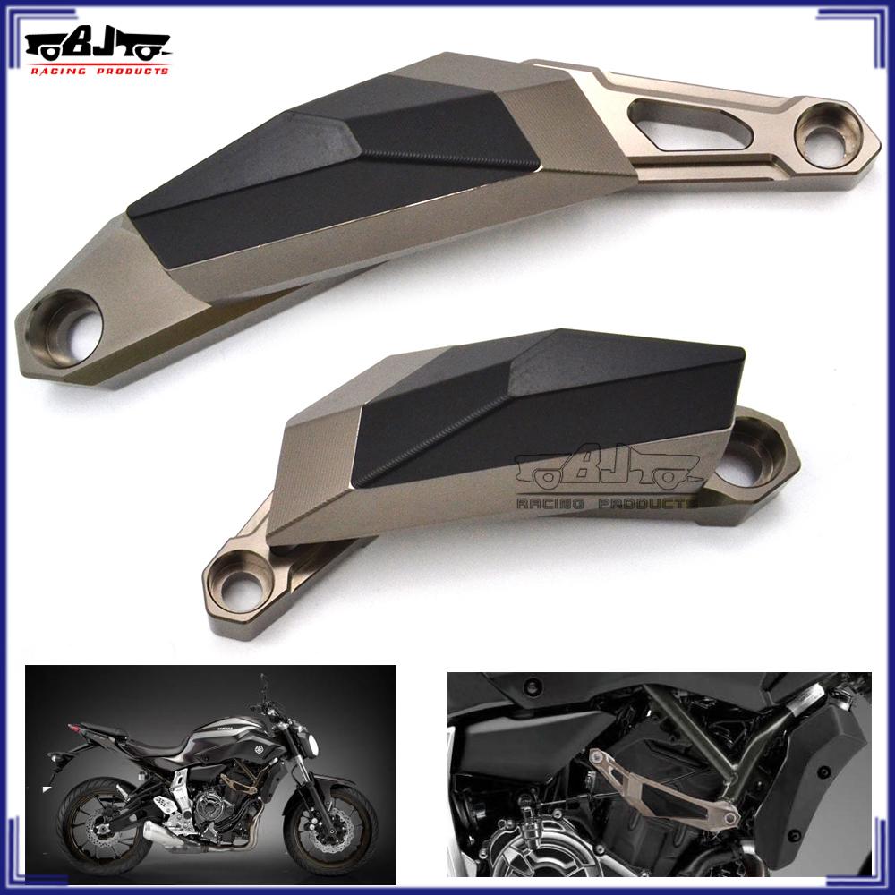 BJ Global motocicleta Izquierda y Derecha Marco deslizante anti protector de ca/ída para YAMAHA MT07/2013/2014/2015/2016/2017