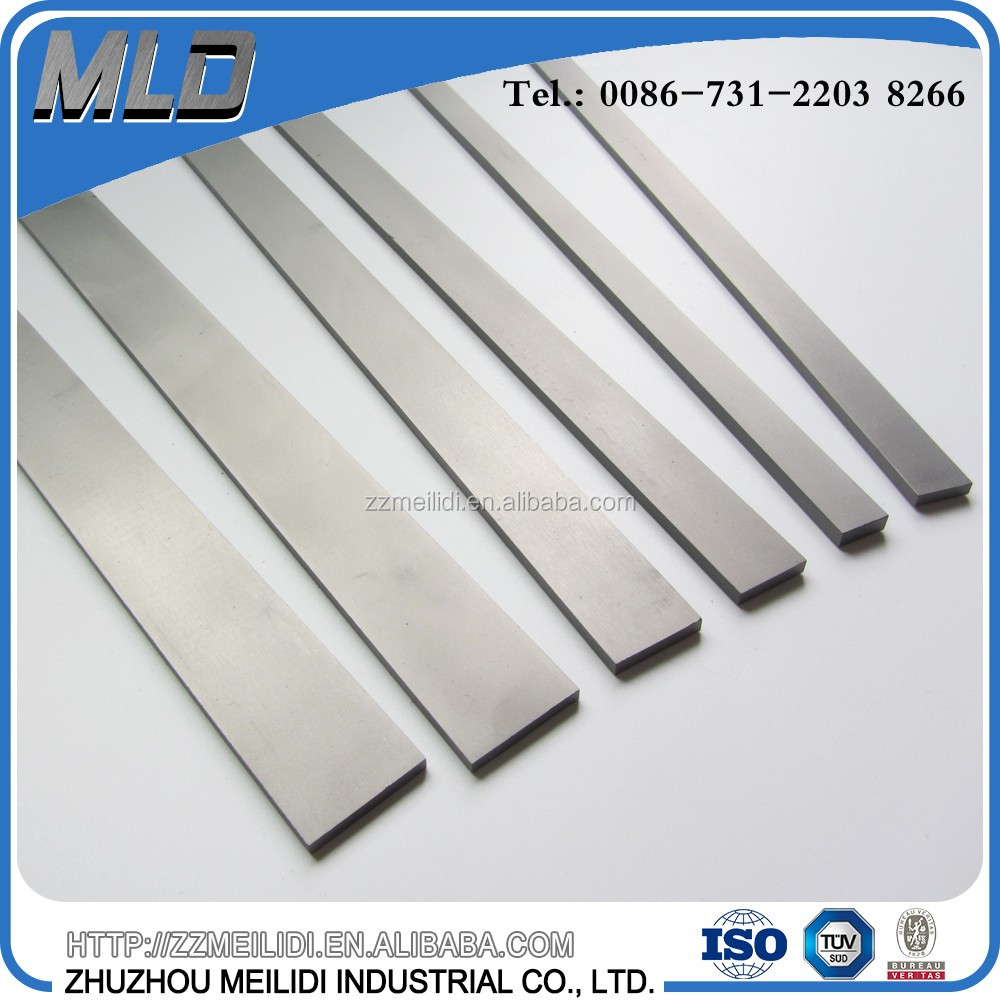 Tungsten carbide rectangular blanks for cutting tools with superior wear resistance