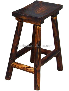 Char Woodcraft 28 H Saddle Seat Stool Furniture Outdoor Wooden Bar Stools Fur Product On Alibaba