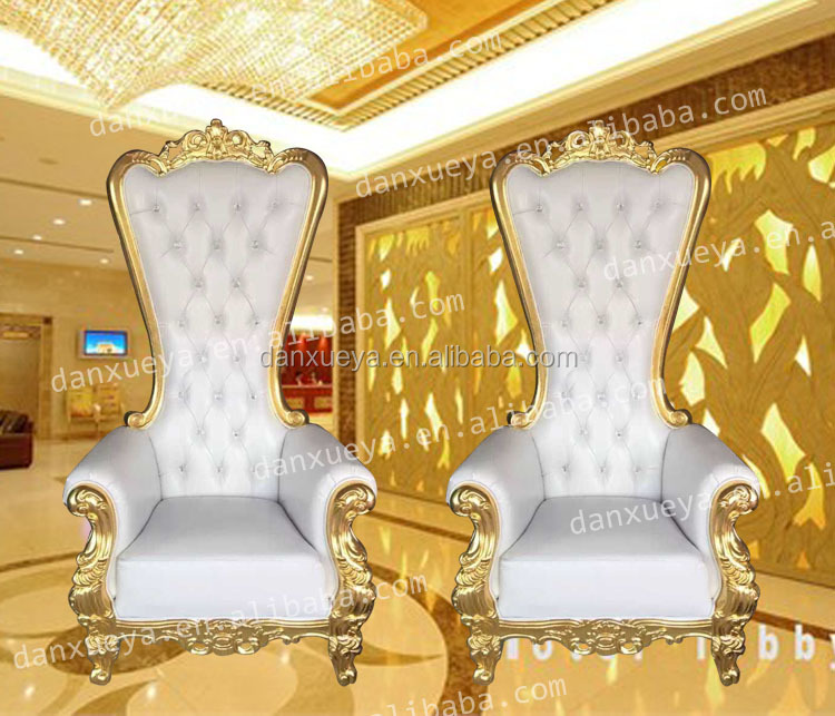 Danxueya Wood Carved White Wedding Chairs For Product On