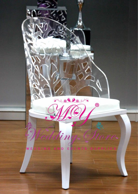competitive price high quality wedding chair acrylic back