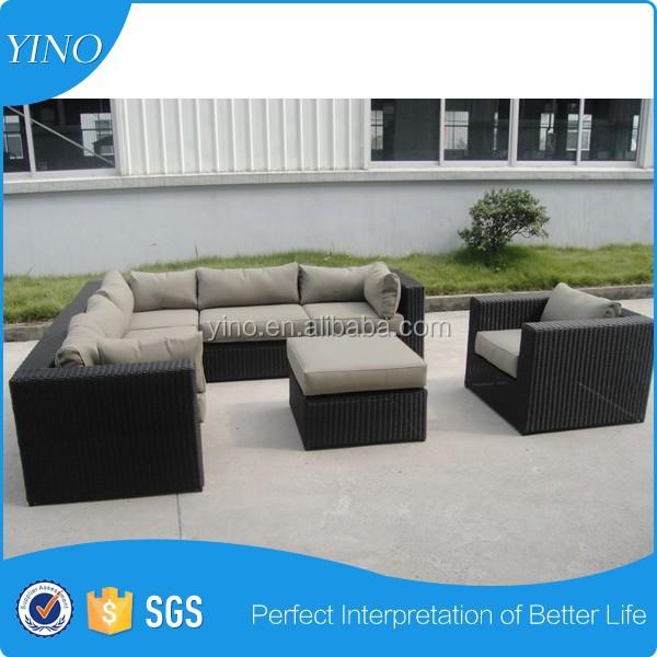 Venta al por mayor patio de mimbre sofá cama-Compre online los ...