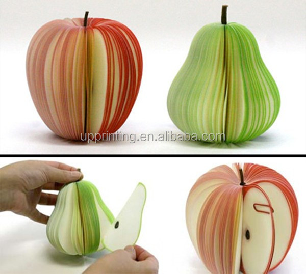 Fruit Shape Memo Pads, Sticky Notes, Advertising stationery gift Memo Pads