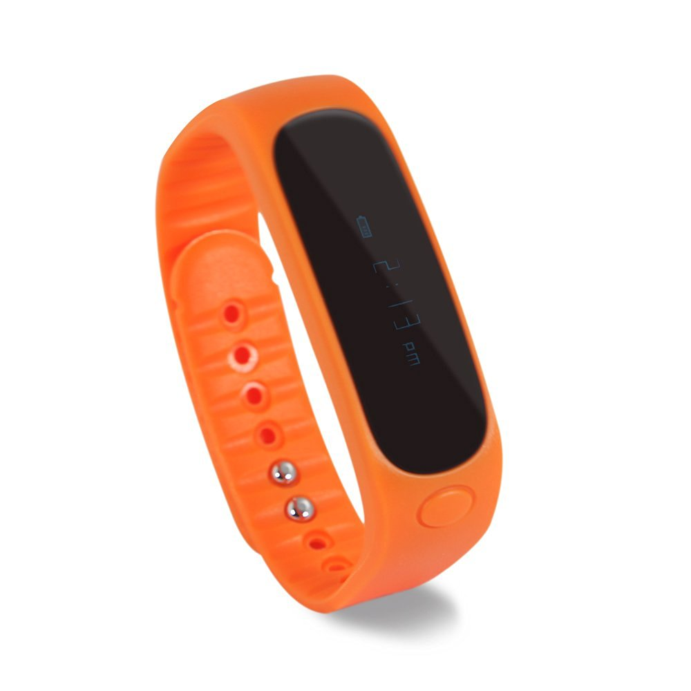 E02 Smart Bracelet, Sports & Outdoors, Bluetooth Smart Watch, With Bluetooth Selfie Photo Function, Activity Tracker, Healthy Wristband, Pedometer, Sleep Monitor for IOS Android IP57, Waterproof