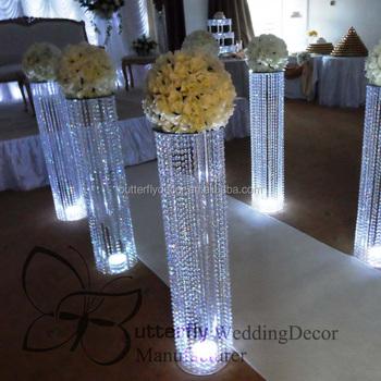 3ft tall acrylic wedding decoration crystal walkway pillars 3ft tall acrylic wedding decoration crystal walkway pillars pedestals columns junglespirit Choice Image