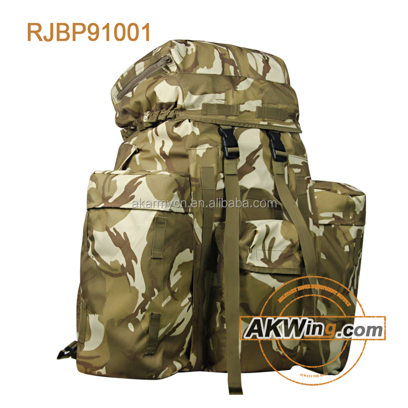 "Kenya KWS Military Backpack PLCE Pattern 90"" Webbing Pack Storm DPM Camo Army Bakcpack"