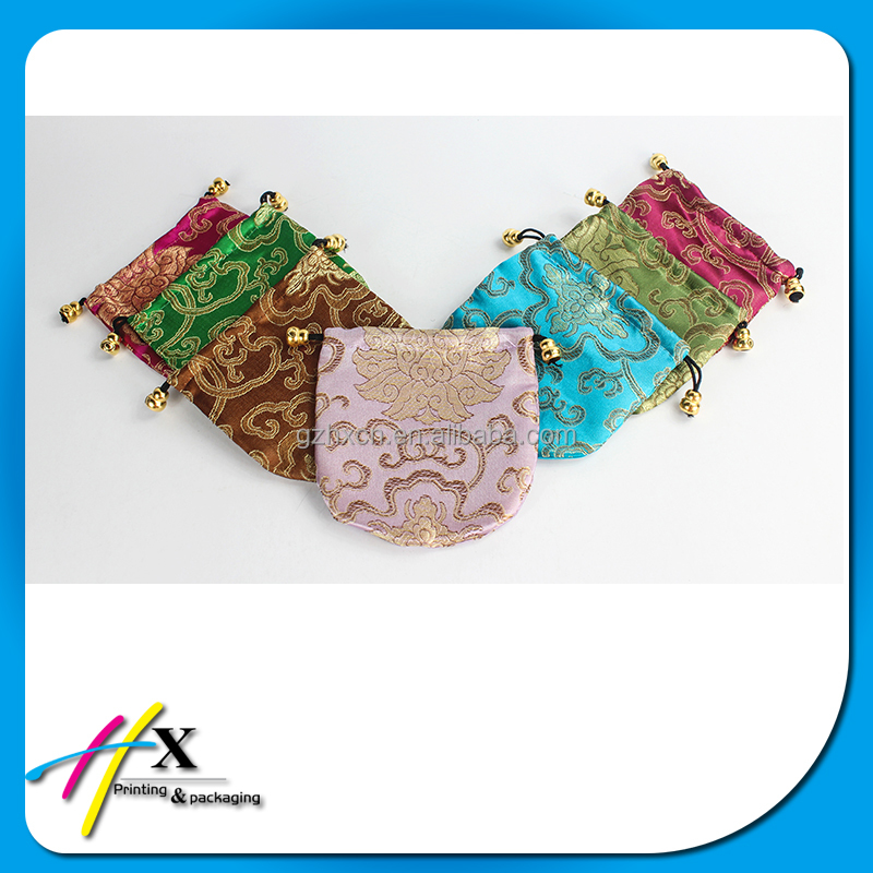 Chinese Style Embroidery Silk Jewelry Pouch With Custom Logo Pouch Organizer For Travel