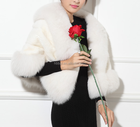 2019 Factory Wholesale Natural White fox Fur Shawl / Fur Cape Shawls / fox Fur Cape from China