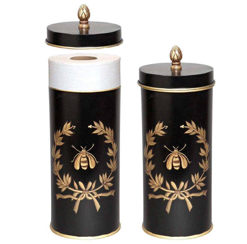 Get Quotations Toilet Roll Storage Holder Free Standing Paper Black Napoleon Bee