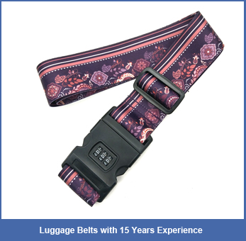 Cheap Price Luggage Scale Belts Elastic Luggage Straps Polyester Cross Packing Strap