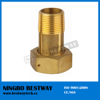 Economic brass swivel nut for water meter connection