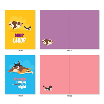 Dogs Card -  All Occasion Note Cards - Hilarious Blank Greeting Cards with Envelopes - Funny Dog Paper NoteCards