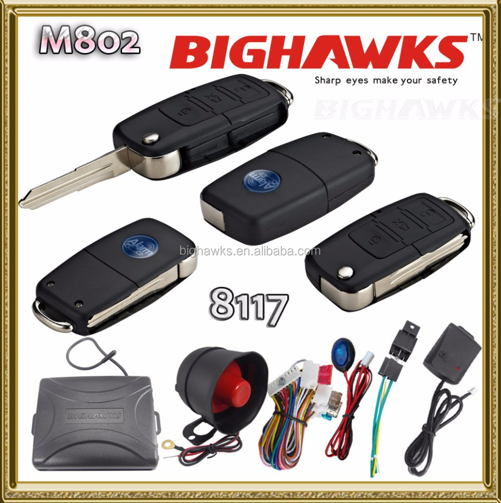 New Car Alarm China Manufacturer B5 Remote Flick Key 2in1 Bighawks ...