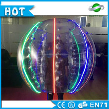 Colorful squishy slow rising sporting goods human sized hamster inflatable bubble soccer bumper led ball of american football