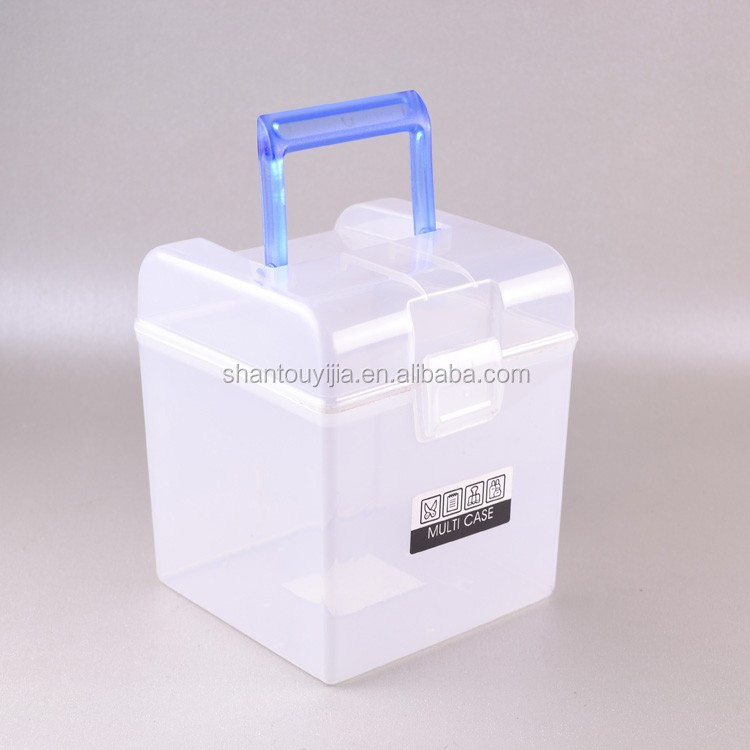 Multipurpose Square Transparent Storage Plastic Container Box With Handle - Buy Plastic Container BoxPlastic Storage CaseTransparent Storage Box Product ... & Multipurpose Square Transparent Storage Plastic Container Box With ...