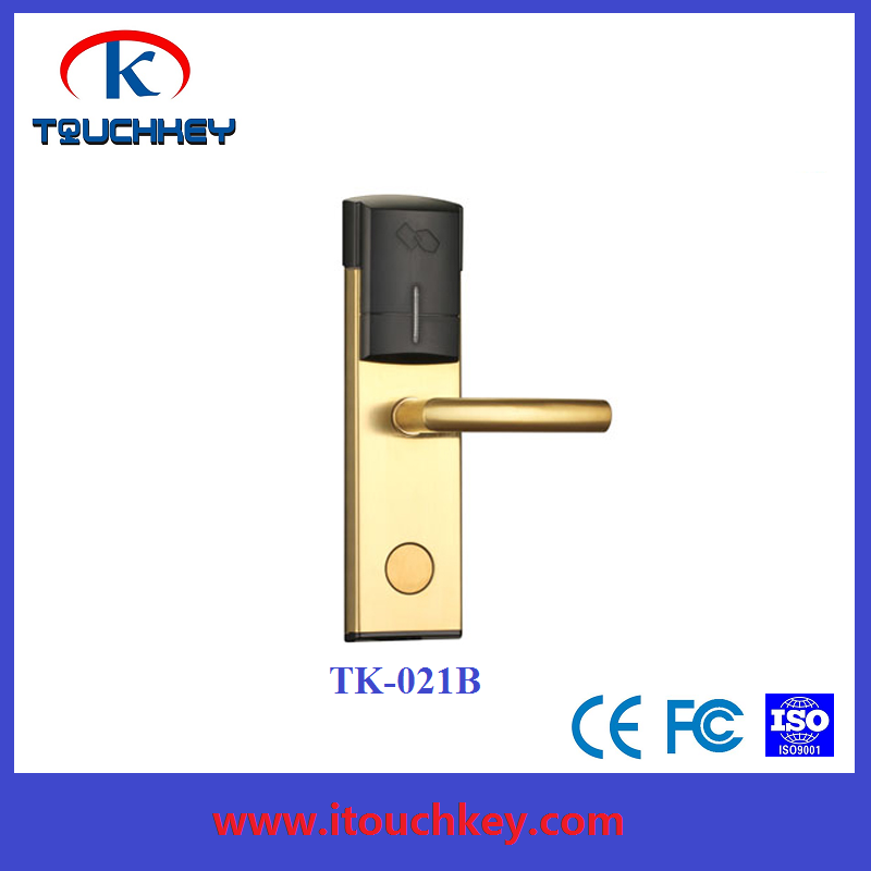 Waterproof ADEL RF key card hotel lock with SS304 material