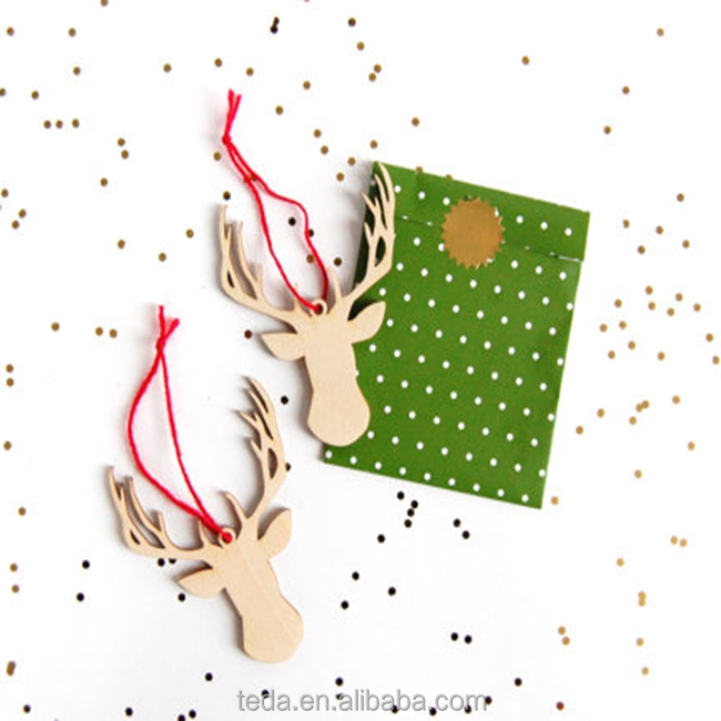 Holiday decoration lasercut reindeer christmas tree ornaments