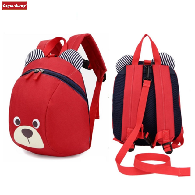 Osgoodway Infantile Children School Bags Cute Anti-lost Children's Backpack for Child Baby Bags