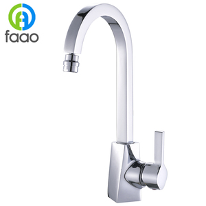 FAAO Brass round spout classic pure water 3 way kitchen faucet