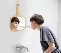wood mirror Convenient cosmetic mirror