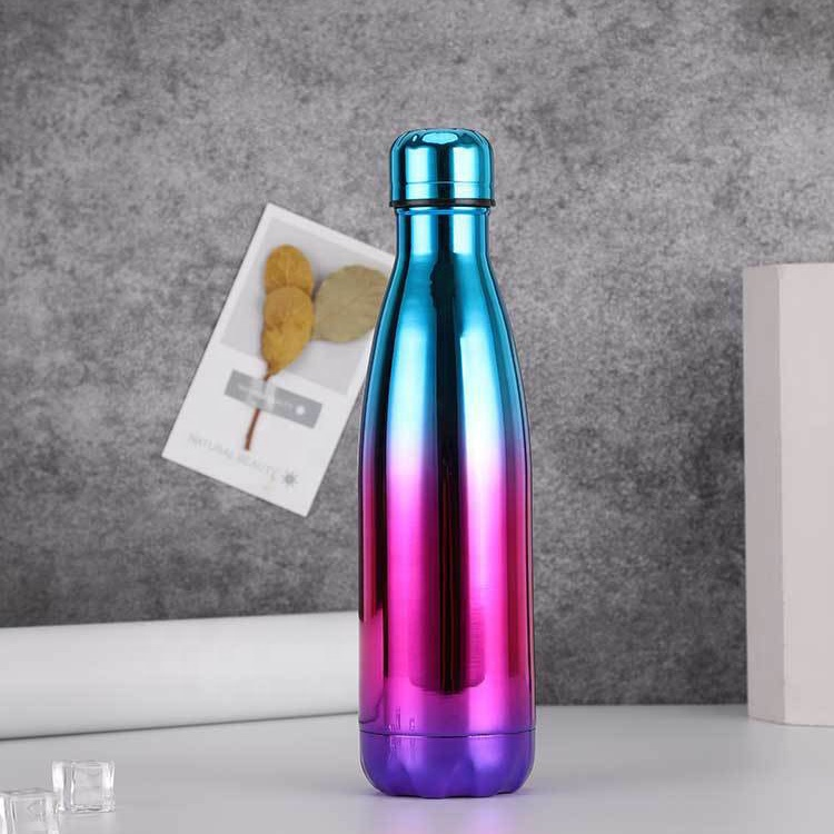 Hot sale bowling electroplating double wall stainless steel cola water bottle