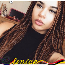 Color 27/613 Ombre Havana Mambo Twists Syntehtic Box Braiding Hair Extension Crochet Box Janet Syntheitc Bulk Hair