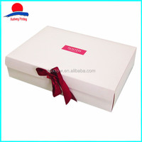 2016 New Style Custom Printed White Gift Packaging Boxes For Wedding