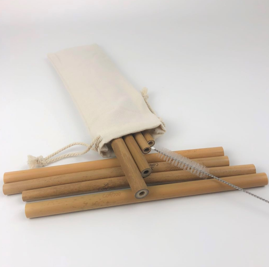Natural Eco-Friendly Fiber Party Kitchen  Clean Brush bamboo Reusable straw