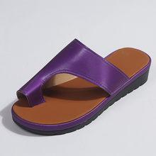 LIN KING/большие размеры; женские летние тапочки; удобная обувь на платформе; повседневная обувь на толстой подошве; женские из искусственной к...(Китай)
