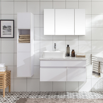 White Wall Mounted Bathroom Mirror