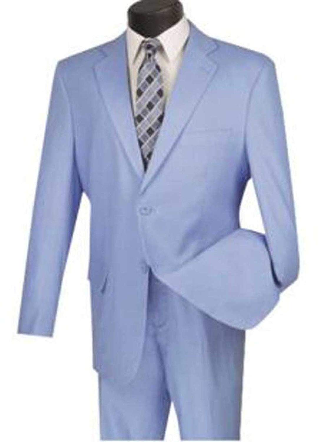 VINCI 2 Button Single Breasted Regular Fit Solid Linen Suit FV2LC-1