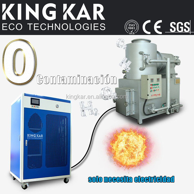 animal incinerator with oxyhydrogen generator
