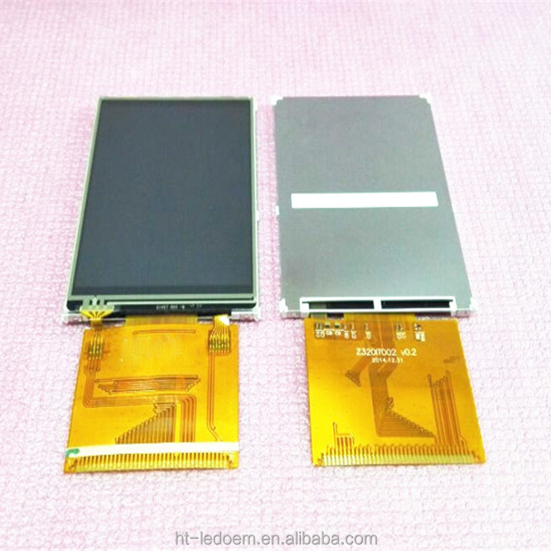 High resolution 240*320 driver IC ILI9341 40pin 0.5mm pin feet space new class grade A super wide view angel 3.2inch TFT LCD