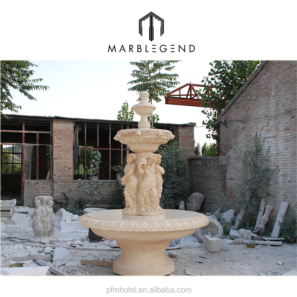 Garden Natural Marble Lady Water Fountains