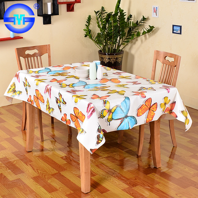 Accept Custom Order Embossing Design Vinyl Erfly Lace Tablecloth Rectangle