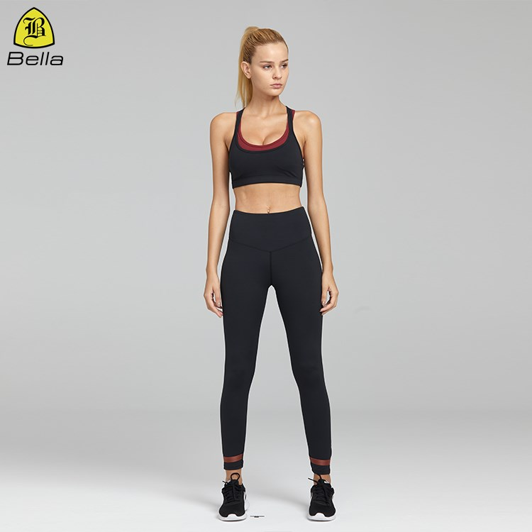 Blank high waist workout tight butt-lift leggings black active wear yoga pants womens