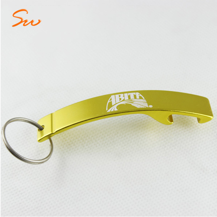 Bulk Price Shiny Colorful Keychain Aluminium Alloy Wall Mount Bottle Opener