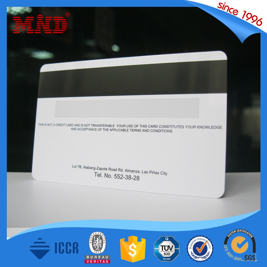 China manufacturer magnetic stripe photo id card printing