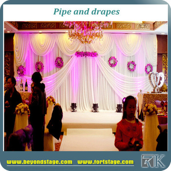 Church Curtain Decoration Poles/background Wall Backdrop Pipe And ...