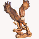 Popular Handcrafted Polyresin wooden finishl Eagle figurine